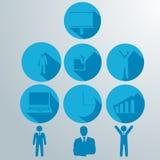 Ilustração do vetor do negócio infographic Fotografia de Stock