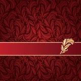 Ilustração do vetor do ornamento das penas Fotos de Stock Royalty Free