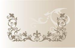 Ilustração do vetor do ornamento floral do vintage Fotos de Stock Royalty Free