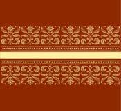 Ilustração do vetor do ornamento floral do vintage Foto de Stock