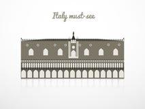 Ilustração do vetor do palácio do doge Fotos de Stock Royalty Free