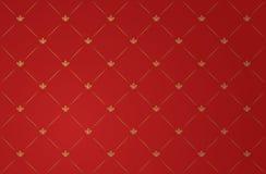 Ilustração do vetor do papel de parede vermelho do vintage ilustração stock