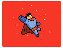 Ilustração do vetor do personagem de banda desenhada do super-herói Fotografia de Stock Royalty Free