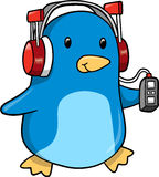 Ilustração do vetor do pinguim da música ilustração royalty free