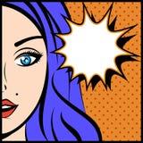 Ilustração do vetor do pop art da jovem mulher Imagem de Stock