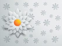 Projeto com flor de papel Foto de Stock Royalty Free