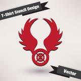 Ilustração do vetor do projeto do estêncil do t-shirt Fotos de Stock