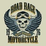 Ilustração do vetor do projeto do t-shirt da motocicleta Imagem de Stock Royalty Free
