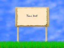Ilustração do vetor do quadro de avisos de madeira Foto de Stock Royalty Free