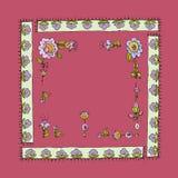 Ilustração do vetor do quadro floral do vintage Foto de Stock