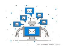 Ilustração do vetor do secretária eletrônica do correio Fotografia de Stock