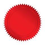 Selo vermelho ilustração do vetor