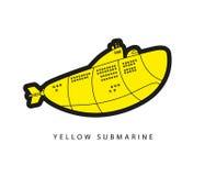 Ilustração do vetor do submarino amarelo Imagens de Stock Royalty Free
