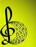 Ilustração do vetor do tema da música Imagens de Stock