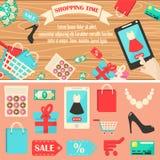 Ilustração do vetor do tempo da compra Imagem de Stock
