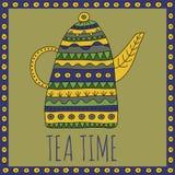 Ilustração do vetor do tempo do chá Foto de Stock Royalty Free