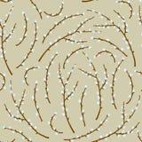 Ilustração do vetor do teste padrão sem emenda do salgueiro da mola ilustração royalty free