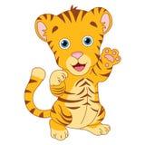 Ilustração do vetor do tigre dos desenhos animados Fotografia de Stock