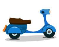 Ilustração do vetor do 'trotinette' azul dos desenhos animados do vintage Foto de Stock