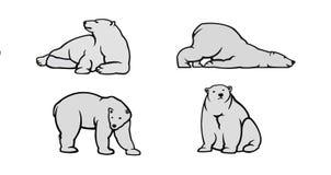 Ilustração do vetor do urso polar Foto de Stock Royalty Free