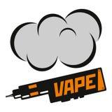 Ilustração do vetor do vape Ilustração do cigarro eletrônico Tendência de Vape Imagem de Stock