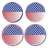 Ilustração do vetor dos ícones da bandeira dos EUA ilustração stock