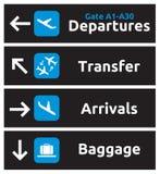 Sinais do aeroporto Fotografia de Stock Royalty Free