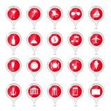 Ilustração do vetor dos ícones do curso Fotografia de Stock