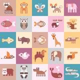 Ilustração do vetor dos animais Fotografia de Stock Royalty Free