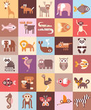 Ilustração do vetor dos animais do jardim zoológico Fotos de Stock