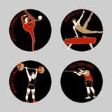 Ilustração do vetor dos atletas Fotografia de Stock Royalty Free