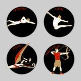 Ilustração do vetor dos atletas Fotografia de Stock