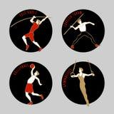 Ilustração do vetor dos atletas Foto de Stock Royalty Free