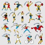 Ilustração do vetor dos atletas Imagens de Stock