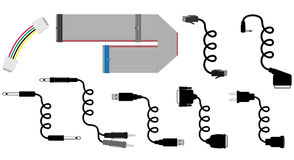 Ilustração do vetor dos cabos Fotos de Stock