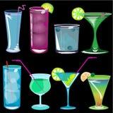Ilustração do vetor dos cocktail Fotos de Stock Royalty Free