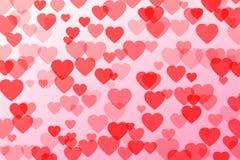 Ilustração do vetor dos confetes do coração Fotografia de Stock