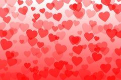 Ilustração do vetor dos confetes do coração Imagens de Stock Royalty Free
