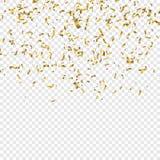 Ilustração do vetor dos confetes de Goldenl Imagens de Stock Royalty Free