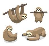 Ilustração 1 do vetor dos desenhos animados da preguiça Imagem de Stock