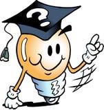 Ilustração do vetor dos desenhos animados de um bulbo inteligente da ideia ilustração royalty free