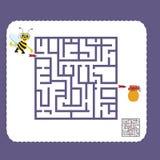 Ilustração do vetor dos desenhos animados do labirinto da educação Fotos de Stock Royalty Free