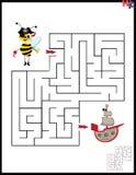 Ilustração do vetor dos desenhos animados do labirinto da educação Imagem de Stock