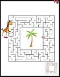 Ilustração do vetor dos desenhos animados do labirinto da educação Fotos de Stock