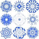 Ilustração do vetor dos flocos de neve Fotos de Stock Royalty Free