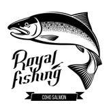 Ilustração do vetor dos peixes dos salmões de Coho Fotografia de Stock Royalty Free