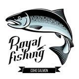 Ilustração do vetor dos peixes dos salmões de Coho Imagem de Stock