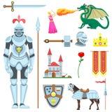 Ilustração do vetor dos símbolos do cavaleiro ilustração royalty free