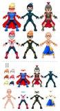 Ilustração do vetor dos super-herói do Avatar, objetos ilustração royalty free