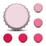Ilustração do vetor dos tampões de garrafa Eps 10 Imagens de Stock